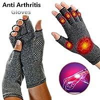 抗関節炎健康圧縮セラピー手袋リウマチ手の痛み手首のサポートスポーツ安全グローブ,1pair,L