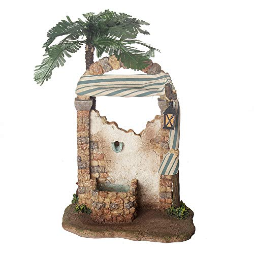 Fontanini, Nativity Building, Water Fountain with Water Pump, 7.5' Scale, Collection, Handmade in Italy, Designed and Manufactured in Tuscany, Polymer, Hand Painted, Italian, Detailed