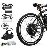 Voilamart Electric Bicycle Kit 26' Rear Wheel 48V 1000W E-Bike Conversion Kit, Cycling Hub Motor...
