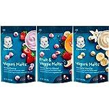 Gerber Up Age Yogurt Melts & Fruit & Veggie Melts Assorted Variety Pack, 8Count