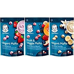 professional A range of different yogurts and fruits and vegetables Gerber Up Age, 8 Count