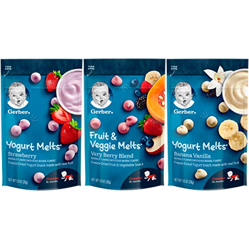 Gerber Up Age Yogurt Melts & Fruit & Veggie Melts Assorted Variety Pack, 8 Count