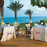 ibvenit 4er Set Tischdeckenbeschwerer für draußen Tischtuchklammern Tischtuchbeschwerer mit Klemmkraft Tischdeckenbeschwerer Vorhang Beschwerer Flamingo Tischdecken Gewichte - 5
