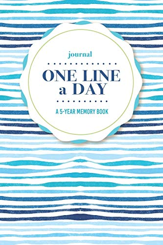 Journal   One Line a Day: A 5-Year Memory Book   5-Year Journal   5-Year Diary   Floral Notebook for Keepsake Memories and Journaling   Bright Blue Beach Style Waves Pattern