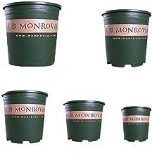 CHENTAOCS Gallon Pots, Pots Plastic, Rose Terraces, Vegetables, Chunky Fleshy Flower Pots, Root Pots, Multiple Sizes (Capacity : 7, Color : Green)