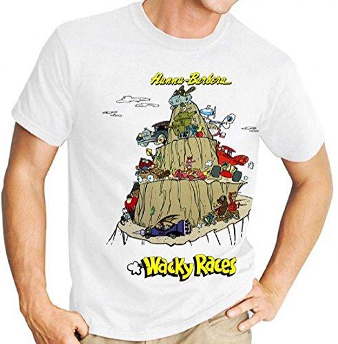 Hanna Barbera Wacky Races T-shirt for Men, S to 3XL