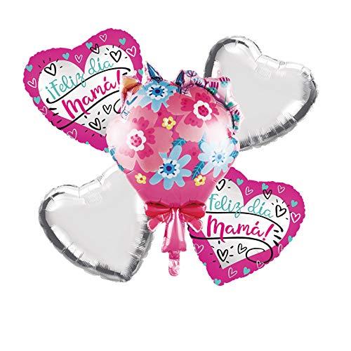 Globo de decoración para el día de la madre de 40,6 cm, mejor mamá, supermamá, increíble decoración para mamá, regalo de cumpleaños de madre, decoración del hogar de fiesta (blanco)