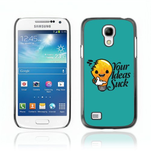 CelebrityCase Polycarbonate Hard Back Case Cover for Samsung Galaxy S4 MINI ( Ideas Suck Funny Message )
