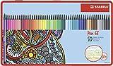 Stabilo Pen 68 - Rotulador de dibujo (50 unidades, punta media), varios colores