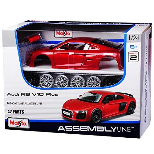 Maisto A-U-D-I R8 Coupe Rot Metallic neuestes Modell 2. Generation ab 2015 39510 Bausatz Kit 1/24 Modell Auto