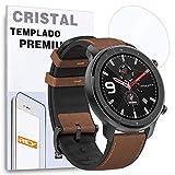 REY Protector de Pantalla para XIAOMI AMAZFIT GTR 47mm, Cristal Vidrio Templado Premium
