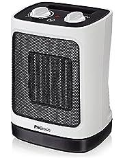 Pro Breeze Mini Calefactor Cerámico 2000W. Oscilación Automática y 2 Configuraciones de Temperatura, Blanco