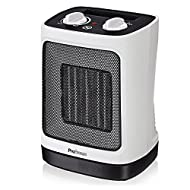 Ceramic Technology: Advanced ceramic heating elements provide faster and more efficient heating than traditional heaters. This electric heater is perfect for keeping you warm this winter 2 Power Settings & Oscillation: Includes 2000W (High) and 1200W...