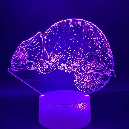 Lámparas de decoración Animal Dog Claw Lámpara 3D Illusion Night Light Bombilla LED...