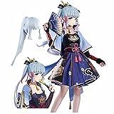 Juego Genshin Impact Kamisato Ayaka Disfraz de Cosplay Carnaval Disfraces de Halloween Vestido de fiesta de mujer Uniforme Traje de dibujos animados, Traje de monos Lolita