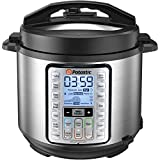 Potastic EP6 10-in-1 Programmable Electric Pressure Cooker,6 Quart,LCD Display,Instant Cooking with Stainless Steel Pot, Multi-use for Rice,Yogurt,Egg,Sauté,steam, silver