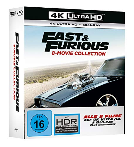 Fast & Furious - 8-Movie Collection - 4K UHD [Blu-ray]