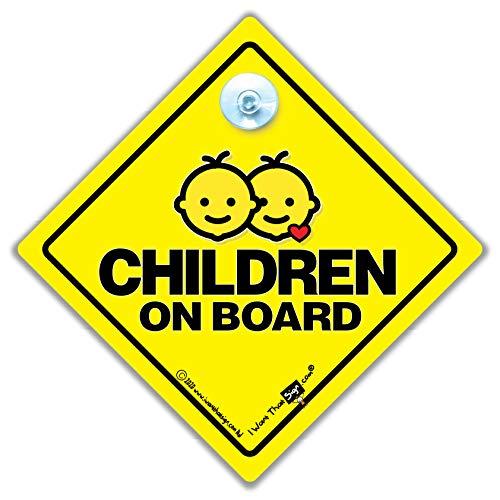 Kinder an Bord Autoschild Saugnapf Auto Fensterschild Baby an Bord Schild Stil für Kinder im Auto