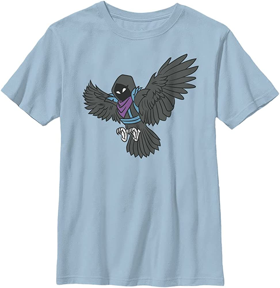 FORTNITE Raven Attack Boy's Solid Crew Tee