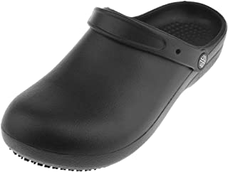 Lovoski Unisex Anti-Slip Chef Clog Oil Water Resistant Work Flat Shoes Safety Footwear