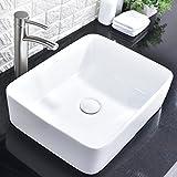 Comllen Above Counter Ceramic Bathroom Vessel Sink Art Basin