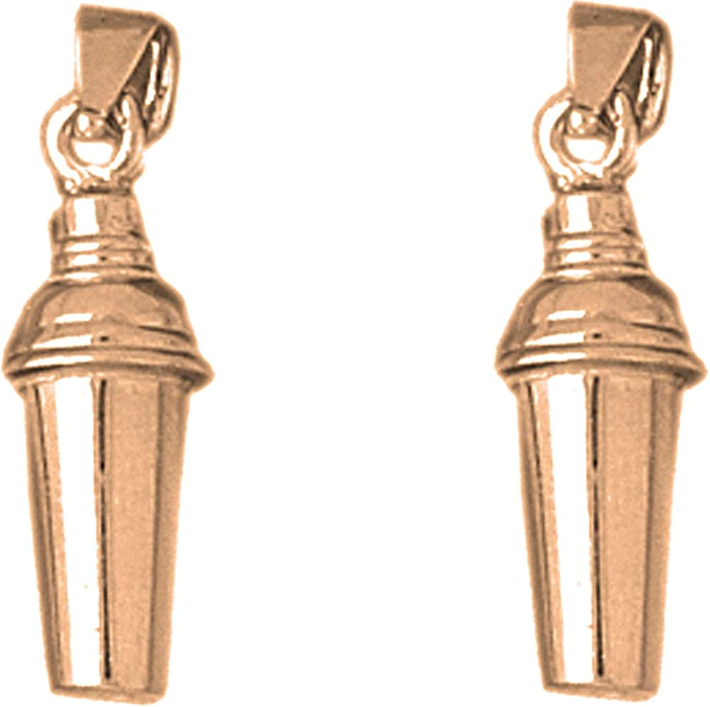 cheap Jewels Obsession Culinary Chef Earrings 14K Overseas parallel import regular item Rose Mar Gold 3D