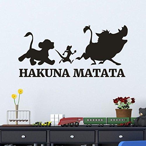 Traumschlaf Schlafzimmer Wandaufkleber wandtattoos, erthome Wanddekoration Wandaufkleber Wandsticker Wanddeko für Schlafzimmer Wohnzimmer Kinderzimmer Babyzimmer (Schwarz ❤️ Hakuna Matata)