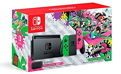 Nintendo Switch Hardware with Splatoon 2 + Neon Green/Neon Pink Joy-Cons (Nintendo Switch) from Nintendo