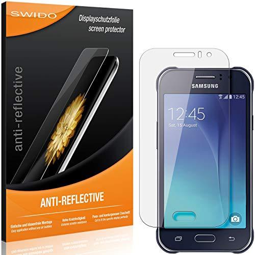 SWIDO Schutzfolie für Samsung Galaxy J1 Ace Neo [2 Stück] Anti-Reflex MATT Entspiegelnd, Hoher Festigkeitgrad, Schutz vor Kratzer/Folie, Bildschirmschutz, Bildschirmschutzfolie, Panzerglas-Folie