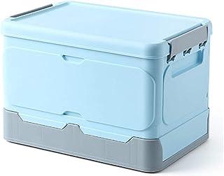 Boîte Pliable Couvercle Caisse de Rangement Plastique Coffre Transport, Boite de Rangement Plastique Caisse Pliable avec C...