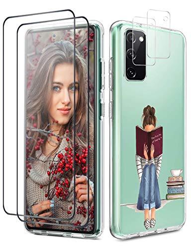 Croazhi - Carcasa compatible con Samsung 20 FE - 2 protectores de...