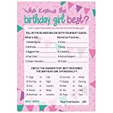 Who Knows The Birthday Girl Best - Girly Pink...
