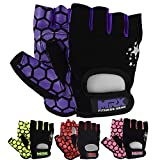 MRX Adjustable Weight Lifting Gloves Fingerless Gloves for Women, Reinforced Palm and Secure Closure, Leather Hand Protection Gear for Gym, Training and Exercise