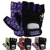 MRX Ladies Weight Lifting Gloves Women Fitness Training Exercise Glove Crossfit Multi Colors (Purple/Black, Medium)