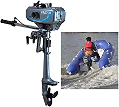 HYYKJ Outboard Motor Boat Engine, 3.5/3.6/4/6/6.5/7 HP 2/4 Stroke Outboard Motor Marine Inflatable Fishing Boat Engine with CDI Water Air Cooling System