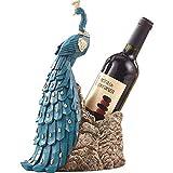 YAeele Decoraciones del Arte del Arte del Pavo Real de la decoración del hogar botellero salón Mesa de Comedor casa gabinete del Vino