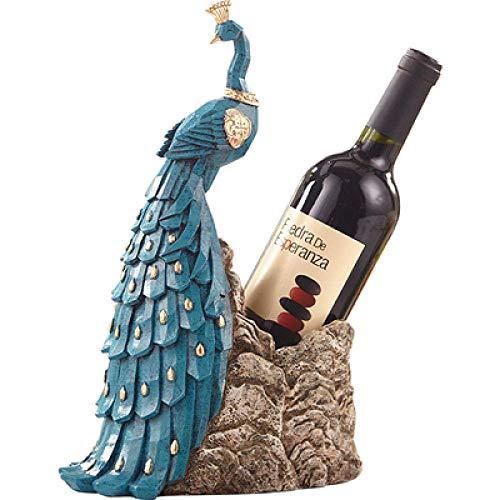 YUXIwang Estatua de Decoraciones del Arte del Arte del Pavo Real de la decoración del hogar botellero salón Mesa de Comedor casa gabinete del Vino