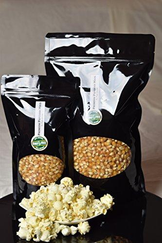 Premium Popcorn Kinopopcorn frische Beutel XL 1:46 Popvolumen (1 Kg Mais)
