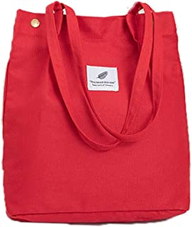 WillingFun Canvas Tasche Damen Canvas Umhängetasche Shopper Casual Handtasche groß Chic Schulrucksack für Alltag Büro Schu...