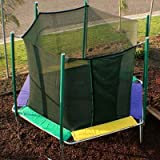KIDWISE Magic Circle 12 FT Hexagon Trampoline with Safety CAGE