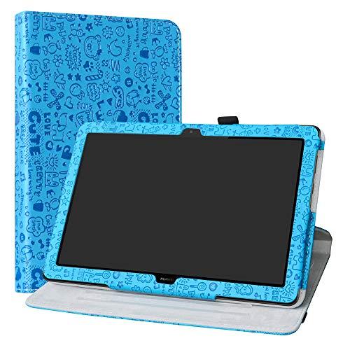 Labanema Huawei MediaPad T5 10 Funda, Rotación de 360 Grados Carcasa con Función de Stand Soporte Cover para Huawei MediaPad T5 10 10.1 Pulgadas 2018 Tablet - Azul