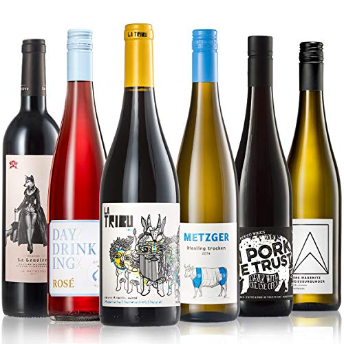 GEILE WEINE Weinpaket GRILLEN (6 x 0,75l) Weisswein, Rosé und Rotwein für den nächsten Grillabend