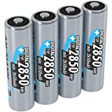 ANSMANN AA Rechargeable Batteries [Pack of 4] 2850 mAh NiMH High Capacity AA Type Size Battery Digital Equipment's, Cameras, Flash Units, Speakers, Microphones