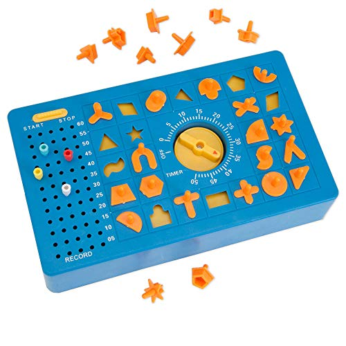 TimeShock Game-Retro Timed Fun Board Game, Game Unit with Timer and Pop-up Tray - Game Measures 9' x 5' x 2'