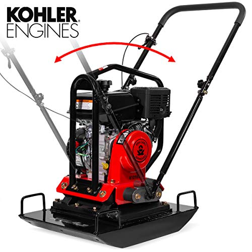 XtremepowerUS 6HP 4500-Pound Compaction Force Reversible Plate Compactor Construction CARB EPA Compliant 208cc Engine