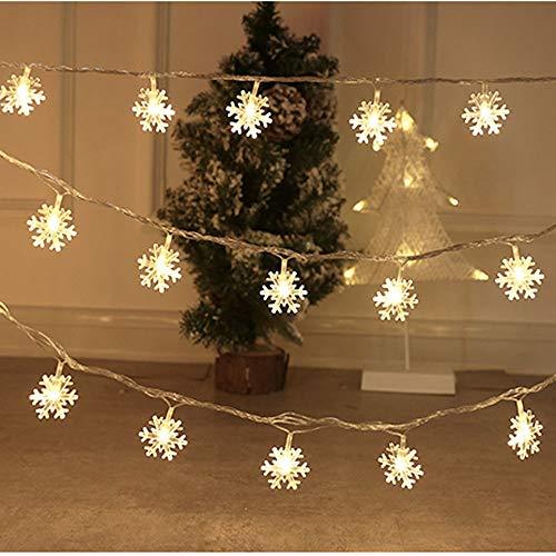 Domila Luci per Albero di Natale Decorazioni Ornamenti LED Piccole luci luci Lampeggianti 10 Metri 100 luci luci Stringa Disposizione Stellata Scena di Fiocchi di Neve di Natale