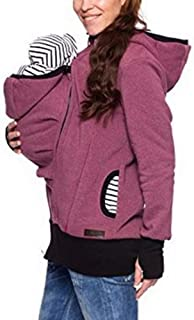 Womens Maternity Kangaroo Hooded Sweatshirt Jacket Coat for Baby Carriers
