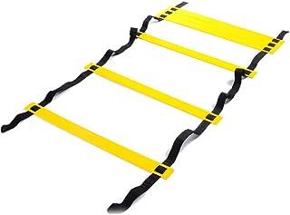 Escalera de agilidad Fuyamp 3 m/4 m/8 m Escalera de velocidad 6/8/16 peldaños para equipo de entrenamiento de velocidad de fútbol con bolsa de transporte negra