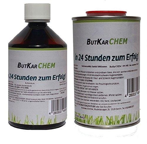 ButKarCHEM (BS & KA) 2 Liter Buttersäure und 0,5 KG Karbid im Vorteilspack *Gebrauchsfertig*