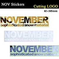 NOVEMBER【ノベンバー】ステッカー CUTTING LOGO! カッティングロゴ スノーボード ステッカー (GOLD)